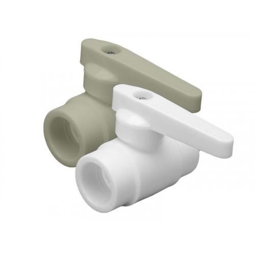 Кран шаровой PPR белый 40 ФД-пласт 22304