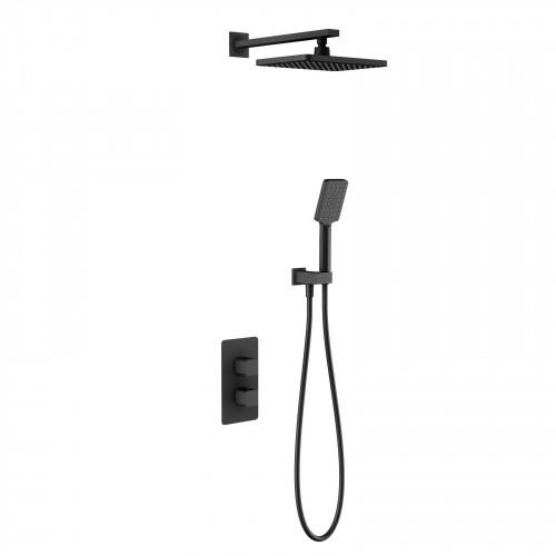 Душевая система для ванной с термостатом чёрная Timo Petruma SX-5059/03SM