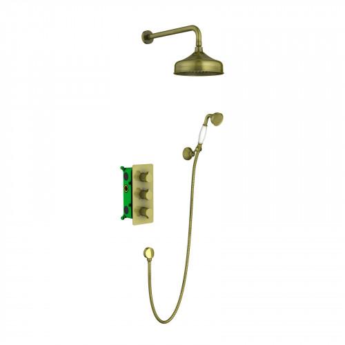 Душевая система для ванной с термостатом античная бронза Timo Petruma SX-5169/02SM