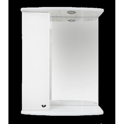 Зеркальный шкаф Misty АСТРА-50 левое, с подсветкой