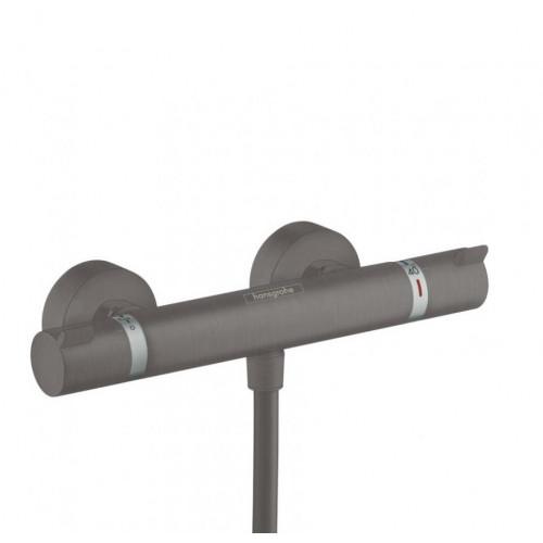 Термостат внешнего монтажа чёрный хром Hansgrohe Ecostat Comfort 13116340