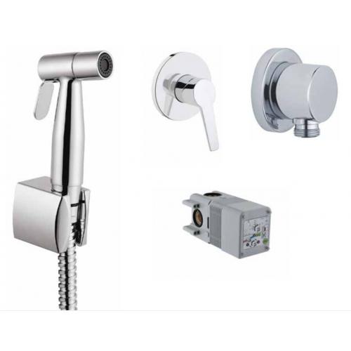 Готовый сет с гигиеническим душем Vitra Solid S (смеситель, скрытая часть, гигиенический душ, держатель)