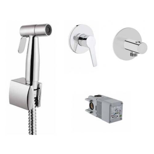 Готовый сет с гигиеническим душем Vitra Solid S (смеситель, скрытая часть, гигиенический душ, держатель) A49271EXP