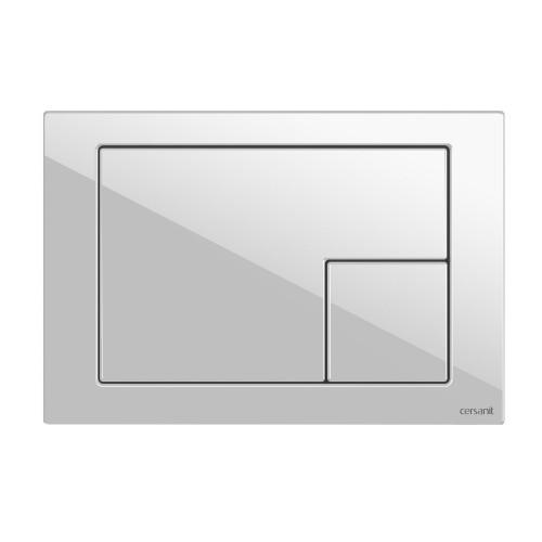 Кнопка пластик белая Cersanit Corner BU-COR/Wh