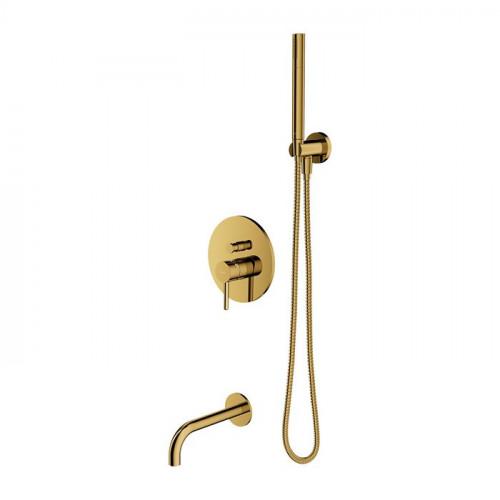 Смеситель для ванны золото OMNIRES Y SYSYW01GL