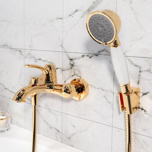 Смеситель для ванны золото Iddis Oldie OLDYG00i02