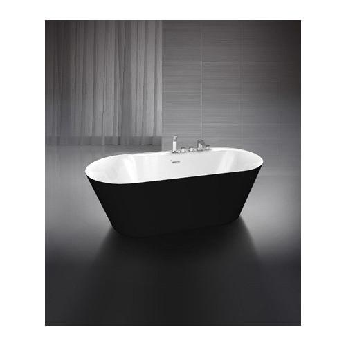 Ванна 178x84 свободностоящая акриловая, внешняя сторона черная, BB14-Nero/Bia, Belbagno