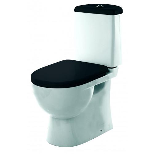 Унитаз компакт Sanita Luxe Best Black с сиденьем из дюропласта и системой soft close SL УнBL B
