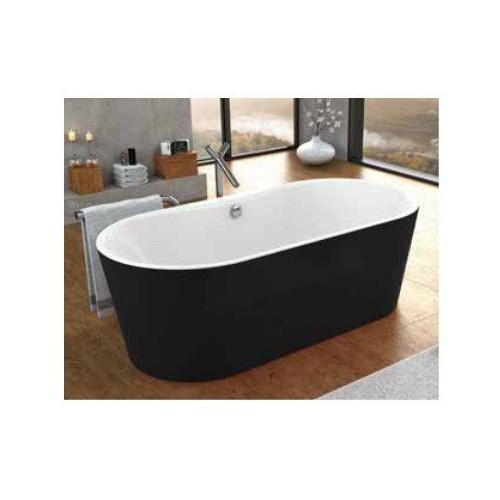 Ванна 185x90 акриловая, с цельнолитой панелью, Comodo FS Basis Black, Kolpa-San