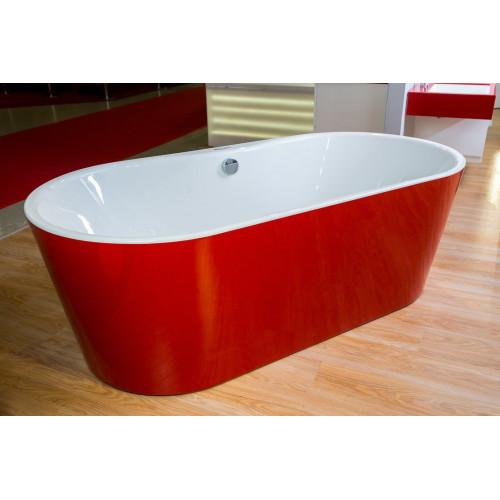 Ванна 185x90 акриловая, с цельнолитой панелью, Comodo FS Basis Red, Kolpa-San
