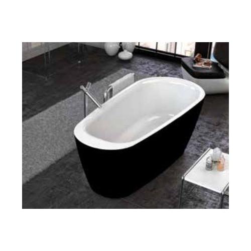 Ванна 180x80 акриловая с цельнолитой панелью, Adonis FS Basis Black, Kolpa-San