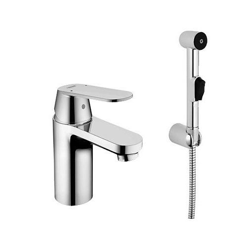 Смеситель однорычажный для раковины S-Size, с гигиеническим душем, Eurosmart Cosmopolitan, Grohe