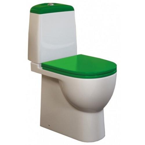 Унитаз компакт Sanita Luxe Best Green с сиденьем из дюропласта и системой soft close SL УнBL G