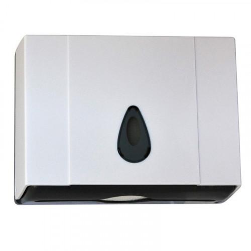 Диспенсер бумажных полотенец. Материал: Ударопрочный пластик. Цвет: белый. Замок