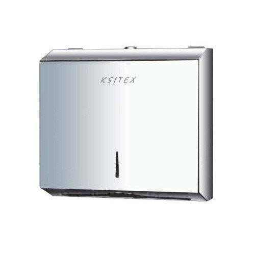 Диспенсер листовых бумажных полотенец нержавеющая сталь Ksitex.