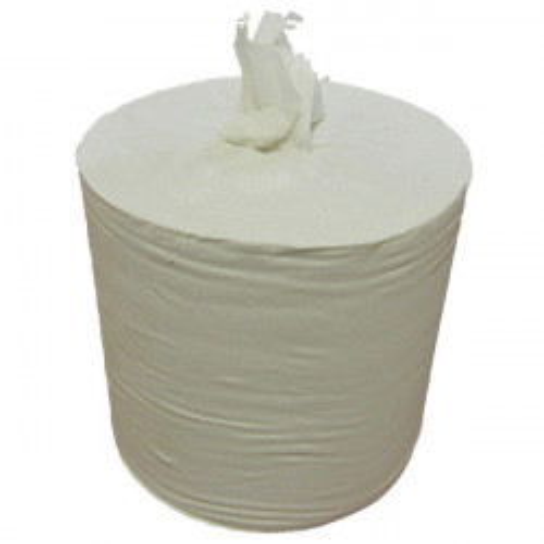 Бумажные полотенца в рулонах. Однослойные, с центральной вытяжкой.