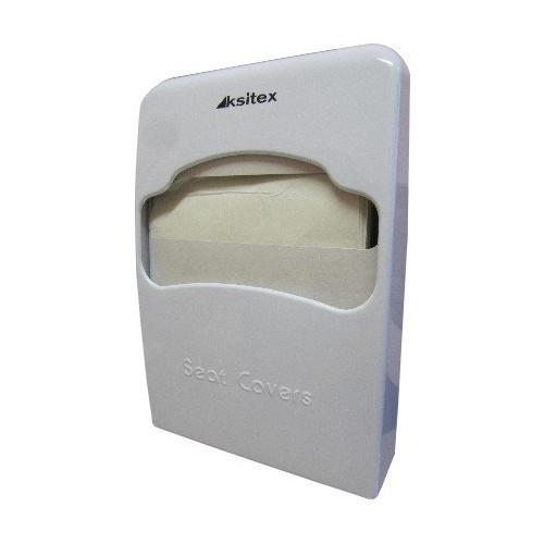 Диспенсер гигиенических покрытий для унитаза выполнен из белого пластика Ksitex.