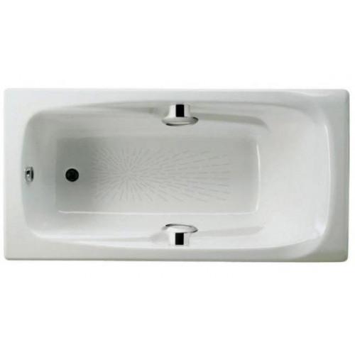 Ванна чугунная 170x85 Roca MING с отверстиями для ручек + antislip