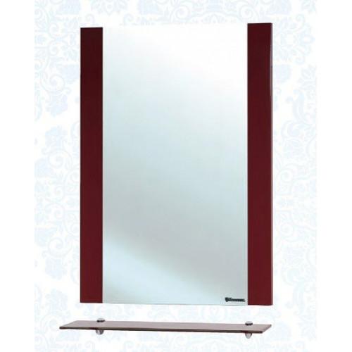 Рокко-60 зеркало с полкой, красное, Bellezza