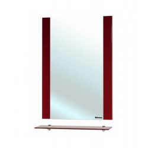 Рокко-70 зеркало с полкой, 68 см, красное,черное, бежевое, Bellezza