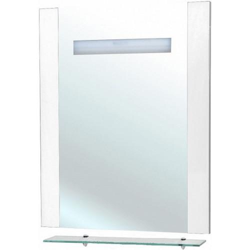 Берта-75 зеркало с полкой, 73 см, белое, внутренняя подсветка, Bellezza