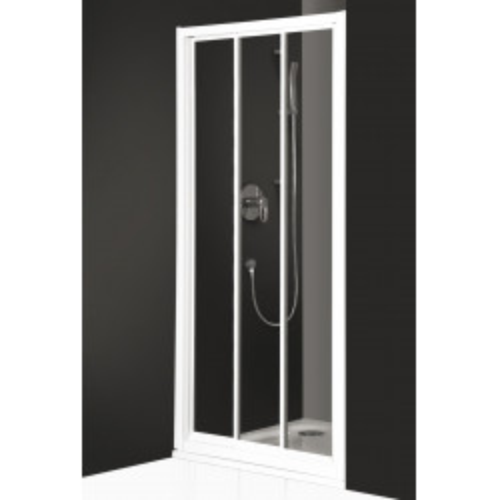 """Дверь для душа PD3N/800, белый профиль, стекло пластик """"капли росы"""" матовое, Classic Line, Roltechnik"""