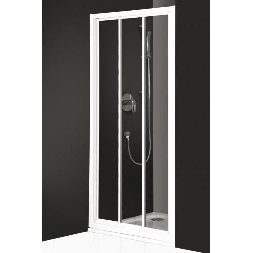 """Дверь для душа PD3N/900, белый профиль, стекло пластик """"капли росы"""" матовое, Classic Line, Roltechnik"""