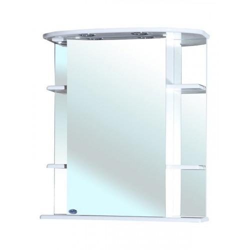 Зеркальный шкаф, 55 см, белый, правый, Магнолия-55, Bellezza