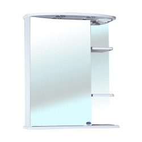 Зеркальный шкаф 60 см, белый, левый, Магнолия-60, Bellezza