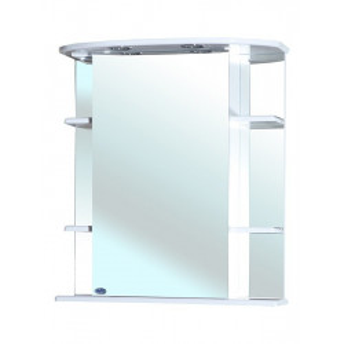 Зеркальный шкаф, 65 см, белый, правый, Магнолия-65, Bellezza