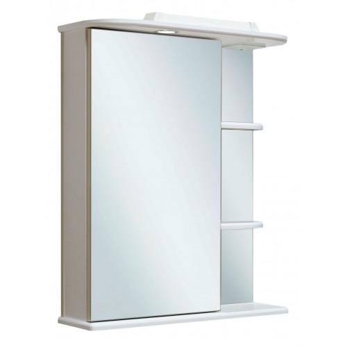 Зеркальный шкаф 50см, Магнолия 50, левый, Runo