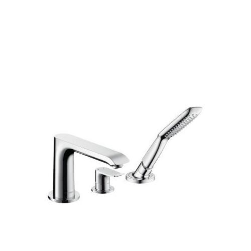 Смеситель на борт ванны 3 отверстия, Metris, Hansgrohe 31190000
