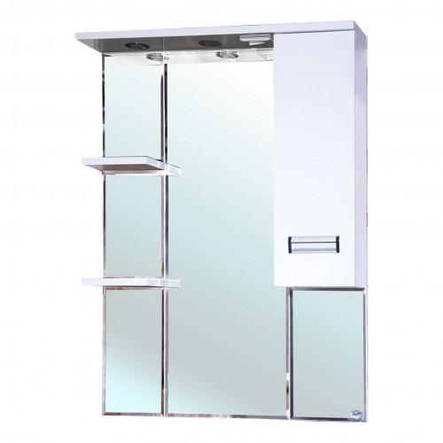 Сиена-80 зеркало шкаф, 78 см, белое, левое, правое, Bellezza