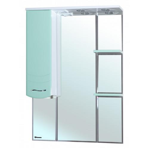 Мари-75 зеркало шкаф, 75 см, комбинированое, черное, салатовое, бежевое, красное, голубое, левое, правое, Bellezza