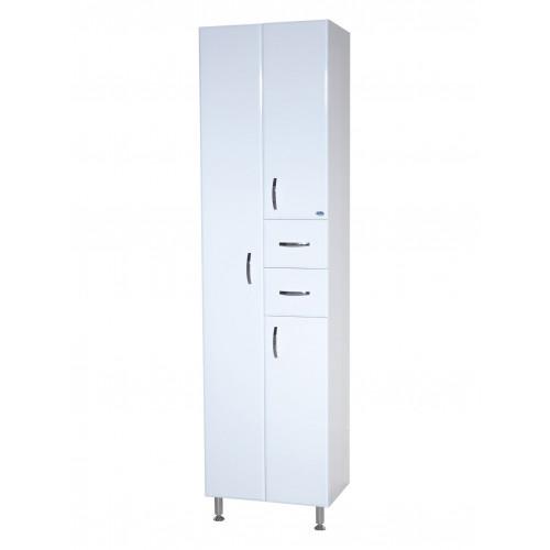 Пенал-50 шкаф пенал, 50 см, белый, Bellezza