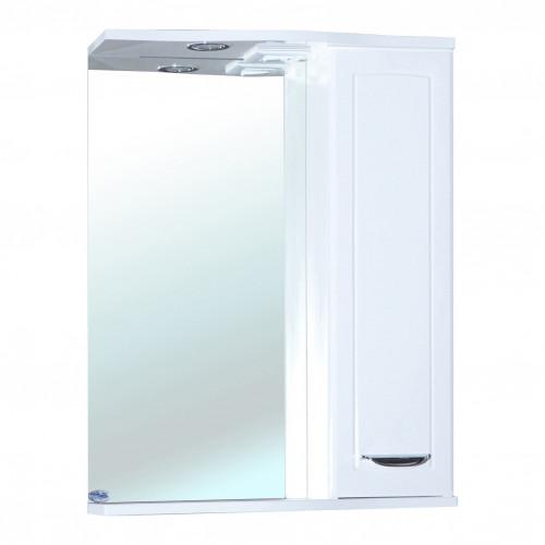 Классик-55 зеркало шкаф, 55 см, белое, левое, правое, Bellezza