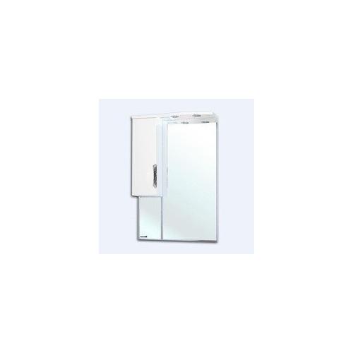 Лагуна-65 зеркало шкаф, 65 см, белое, левое, правое, Bellezza