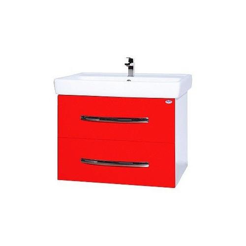 Рокко-50 тумба подвесная с раковиной, 45 см, красная, черная, бежевая, Bellezza