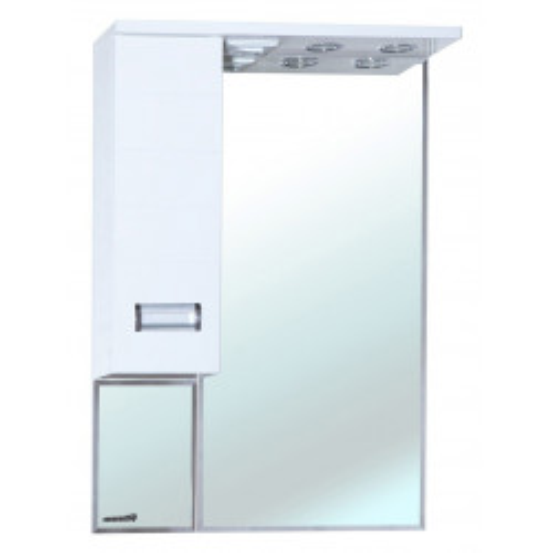 Сиена-70 зеркало шкаф, 68 см, белое, левое, правое, Bellezza