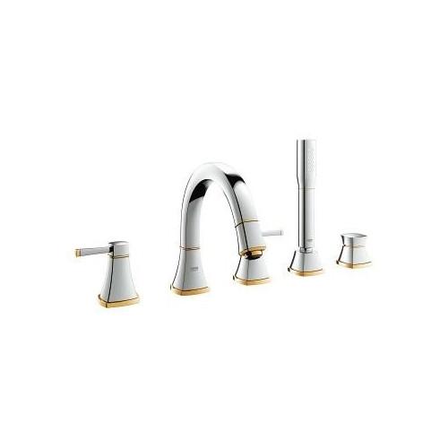 Комплект для ванны на 5 отверстий, хром/золото, Grandera, Grohe