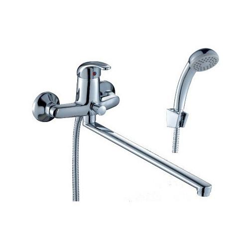 Смеситель одноручный для ванны, с плоским изливом 350 мм, C40-33, Rossinka