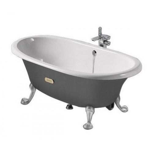 Чугунная ванна 170x85 Newcast, серая снаружи, Roca 233650000