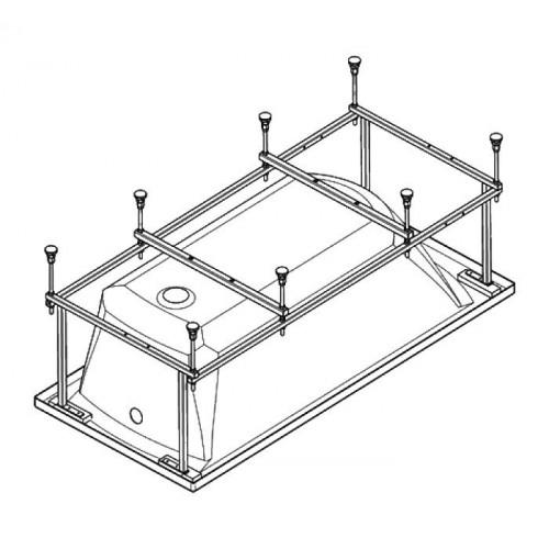 Монтажный комплект к акриловой ванне 150 x 70, Монако, Santek