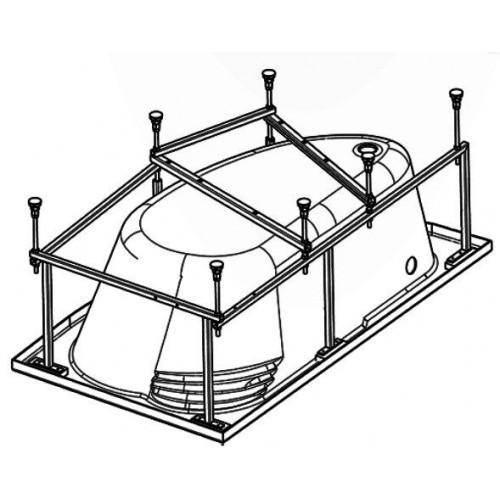 Монтажный комплект к акриловой ванне 150 x 90, Майорка, Santek