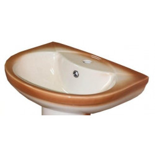 Умывальник 51 см, декор коричневый, Комфорт, Кировская керамика Rosa