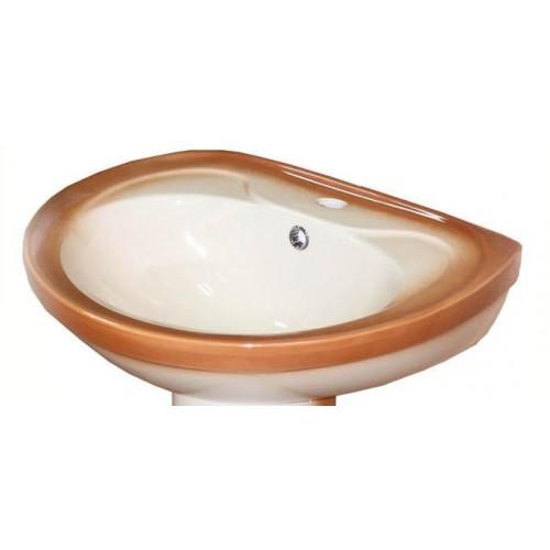 Умывальник 55 см, декор коричневый, Лира, Кировская керамика Rosa