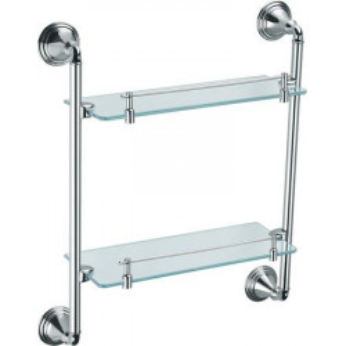 Полка стеклянная 2-х этажная Best FX-71622 Fixsen