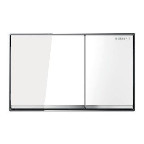 Смывная клавиша, двойной смыв, белое стекло, Omega60, Geberit