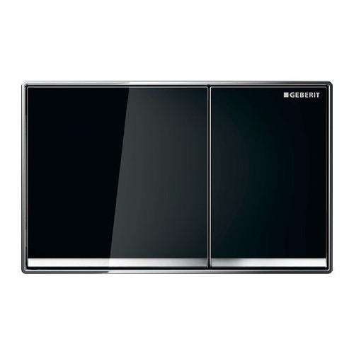 Смывная клавиша, двойной смыв, черное стекло, Omega60, Geberit