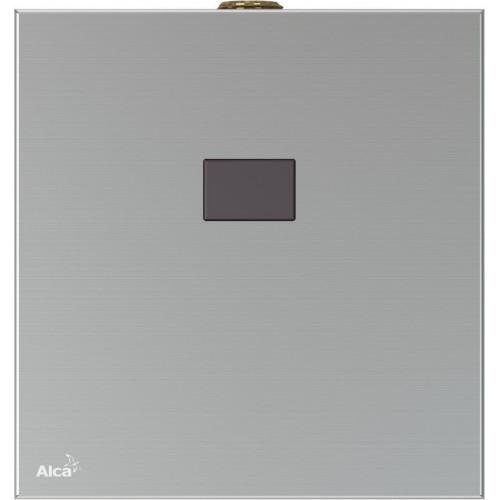 Автоматическое устройство смыва для писсуара, с инфракрасным датчиком, 6 V (батарея), нержавеющая сталь, ASP, Alca Plast